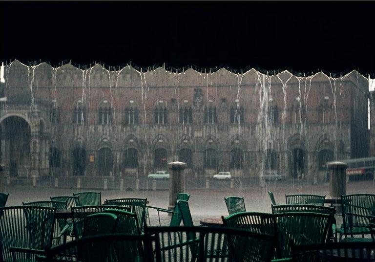 Bernhard Wübbel Color Photograph - Siena Rain  - Oversize c type - Limited Edition