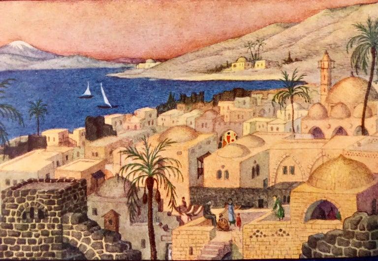 Rare Judaica Tiberius Bezalel Zeev Raban Chromolithograph (made in Palestine) For Sale 1