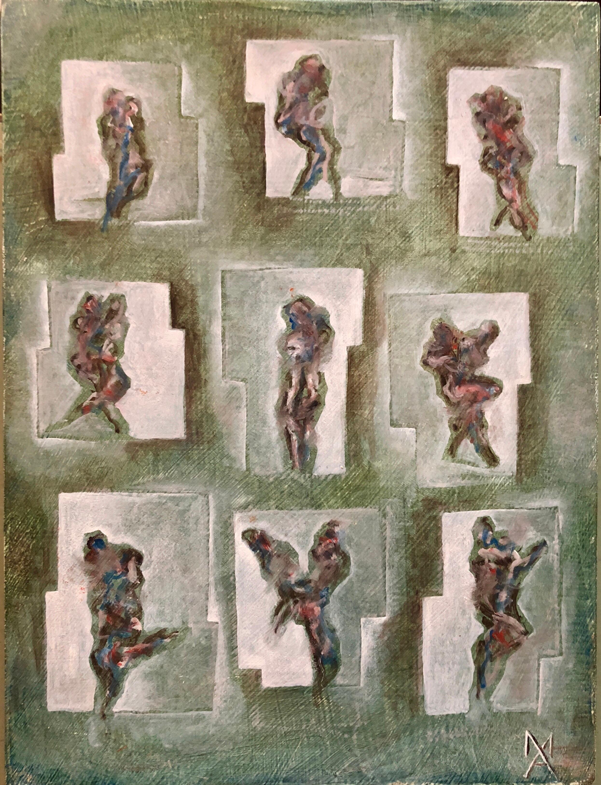 Matthias Alfen German Sculptor Modern Abstract Expressionist Painting Psychogram