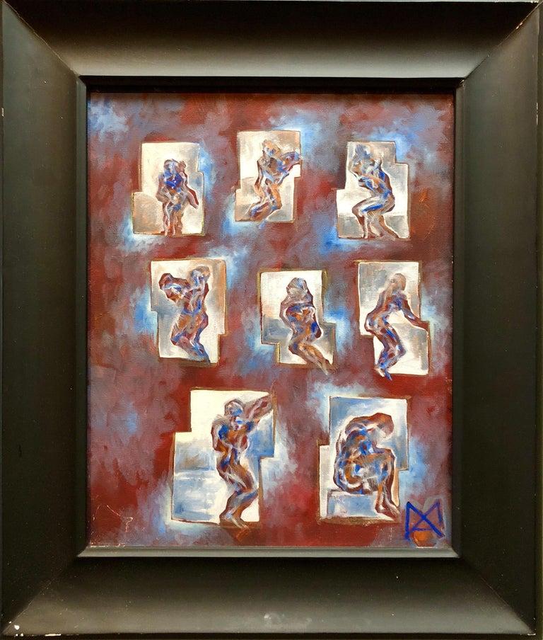 Matthias Alfen German Sculptor Modern Abstract Expressionist Painting Psychogram 2