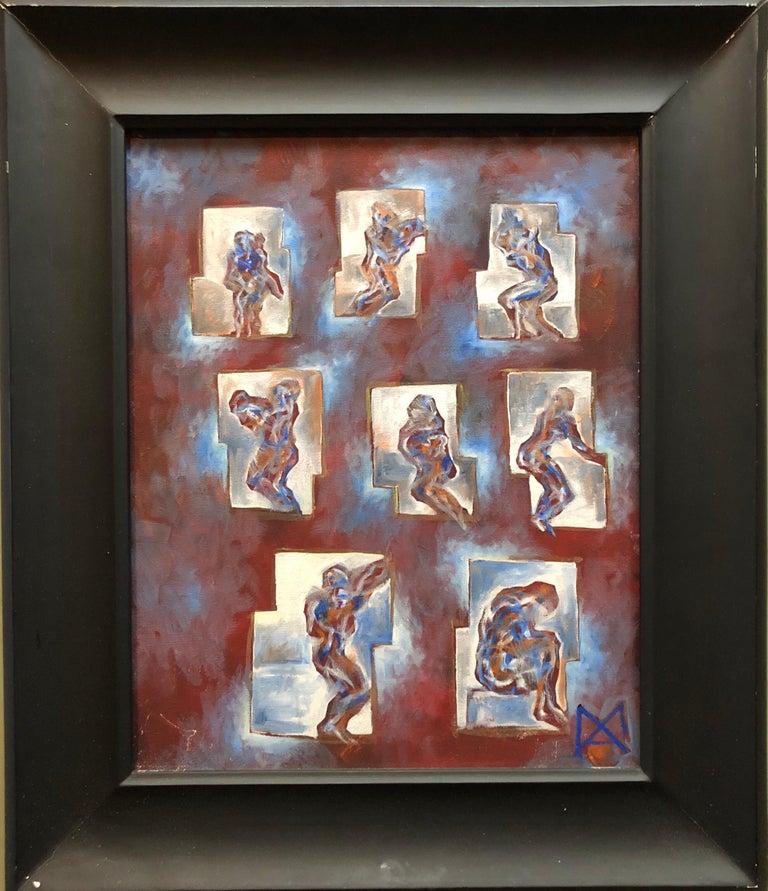 Matthias Alfen German Sculptor Modern Abstract Expressionist Painting Psychogram 1