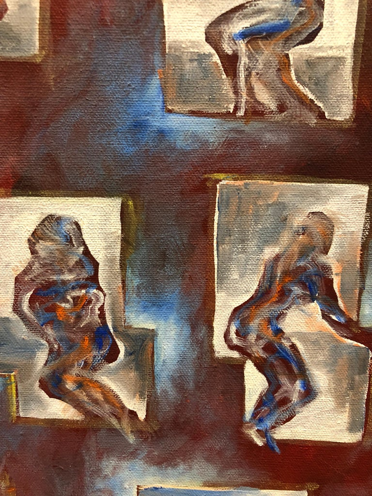 Matthias Alfen German Sculptor Modern Abstract Expressionist Painting Psychogram 3