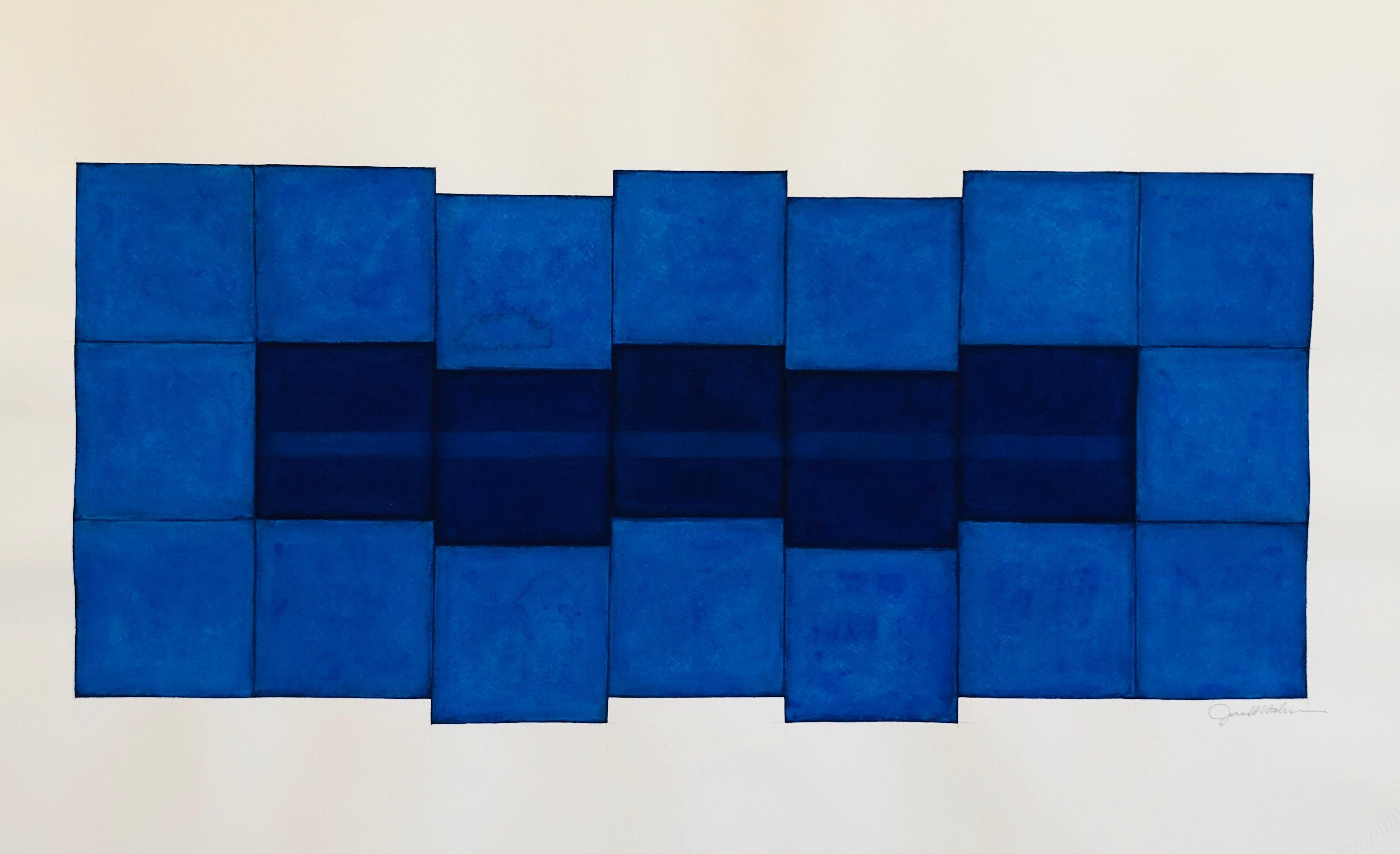 Korean Abstract Minimalist Color Gouache Painting LA Woman Artist MInimalism