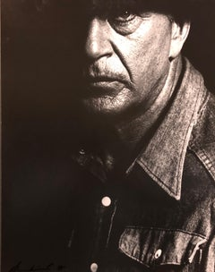 Vintage Silver Gelatin Print Photograph Gary Cooper, His Last Photo, Signed