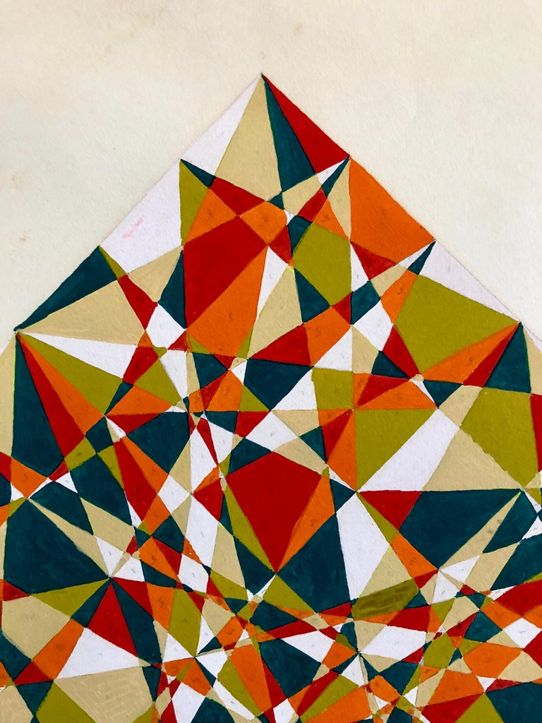 Untitled 1960s Abstract Geometric Expressionist New York Stable Gallery Painting For Sale 1