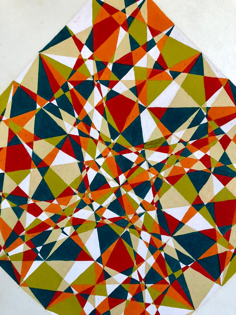Al Dickstein New York school Abstract Geometric work. Came in with small collection of his work including signed letters and a signeed card and some monogrammed pieces.. Signed with monogram.  Showed at New York's Stable Gallery and the Museum of