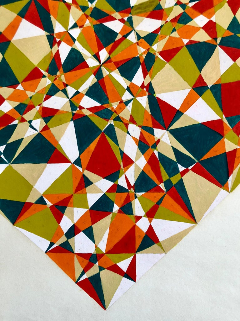Untitled 1960s Abstract Geometric Expressionist New York Stable Gallery Painting For Sale 2