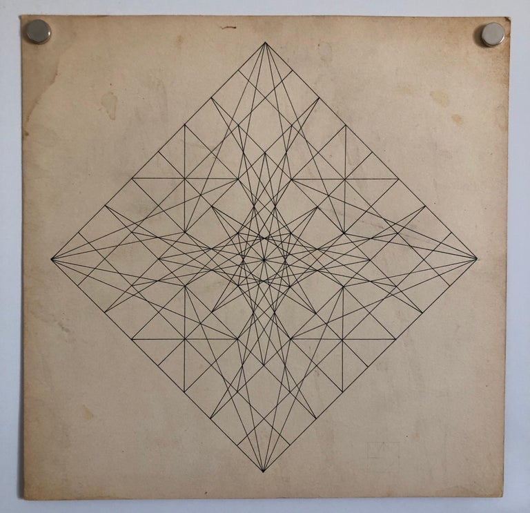 Untitled 1960s Abstract Geometric Expressionist New York Stable Gallery Drawing For Sale 1