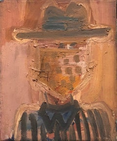 Abstract Expressionist Pop Art Oil Painting Cowboy Figure Portrait NYC 1 of 2