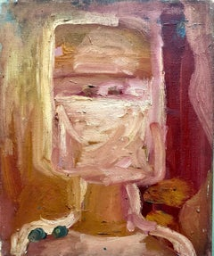 Abstract Expressionist Pop Art Oil Painting Woman Nurse Figure Portrait 2 of 2