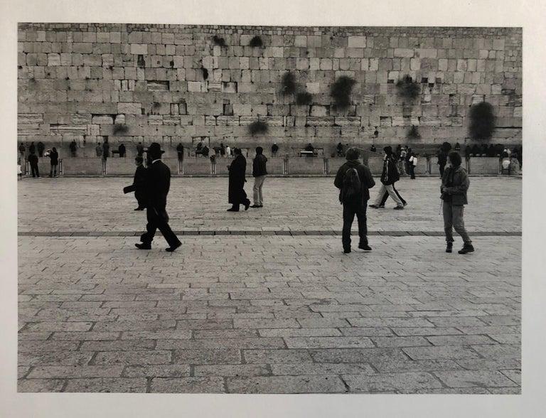 Mikael Levin Landscape Photograph - Jerusalem, Israel Western Wall Ed of 5 Vintage Silver gelatin Photograph Print