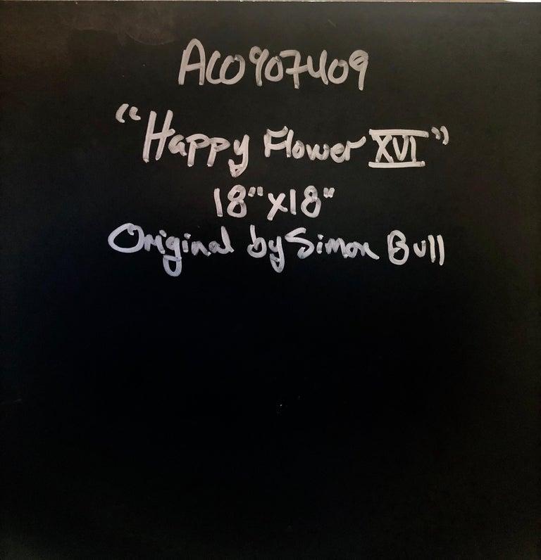 Vibrant Day Glo Pop Art Flower Original Simon Bull Floral Painting 6