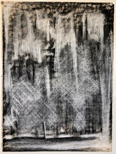 Abstract Gestural Drawing Chalk and Charcoal Drawing, Light Sculpture Artist