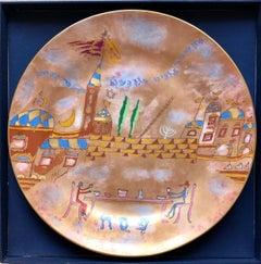 Post Modern Italian Passover Seder Plate Richard Ginori Art Porcelain Judaica