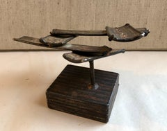 1970s Brutalist Welded Steel Sculpture George Kafka Chicago Modernist Artist