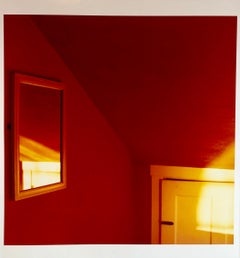 Sunset in the Red Room Large Format Photo 24X20 Color Photograph Beach House RI