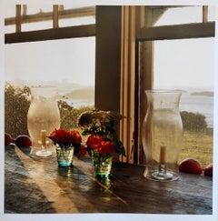 Last Light Nasturtiums, Large Format Photo 24X20 Color Photograph Beach House RI
