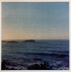 Beach Through Screen, Large Format Photo 24X20 Color Photograph Beach House RI