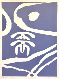 Motif (Purple), African American Artist Viola Leak Woodcut or Silkscreen Print