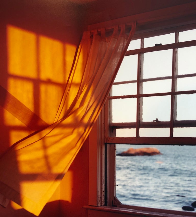 Just Before Sundown, Large Format Photo 24X20 Color Photograph Beach House - Brown Still-Life Photograph by Peter C. Jones