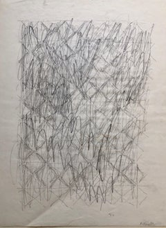 Abstract Expressionist Pencil Drawing Katherine Porter
