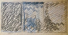 Abstract Expressionist Pencil Drawing Watercolor Painting Pattern Decoration