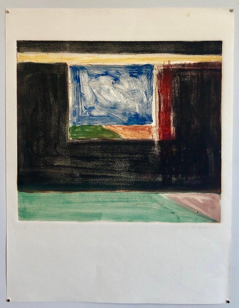 Abstract Pattern & Decoration Monoprint Monotype Painting Print Pierre Obando 6