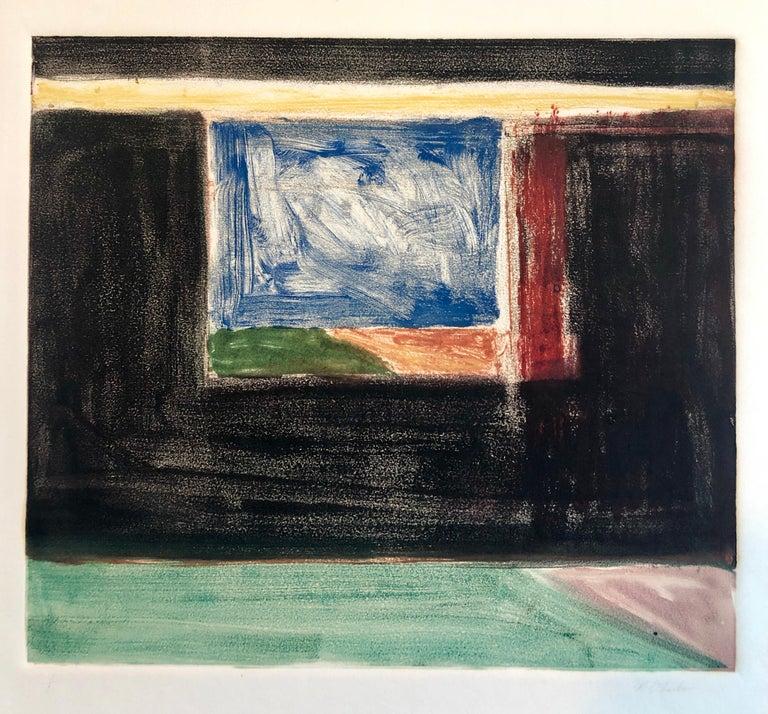 Abstract Pattern & Decoration Monoprint Monotype Painting Print Pierre Obando 1