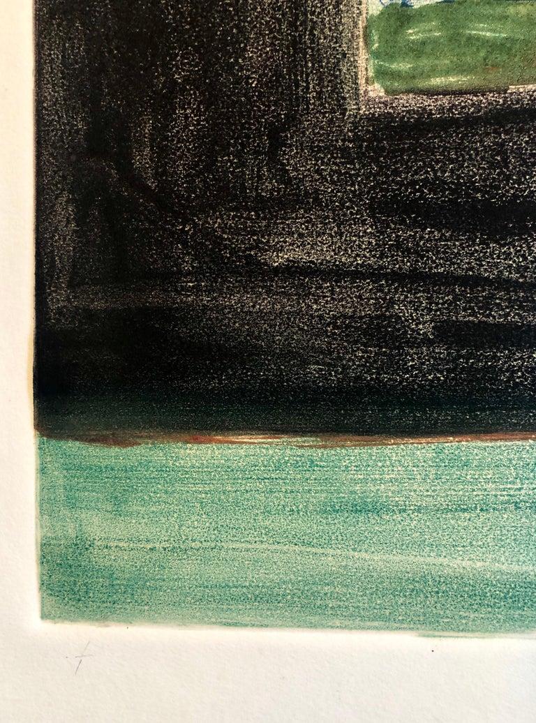 Abstract Pattern & Decoration Monoprint Monotype Painting Print Pierre Obando 4