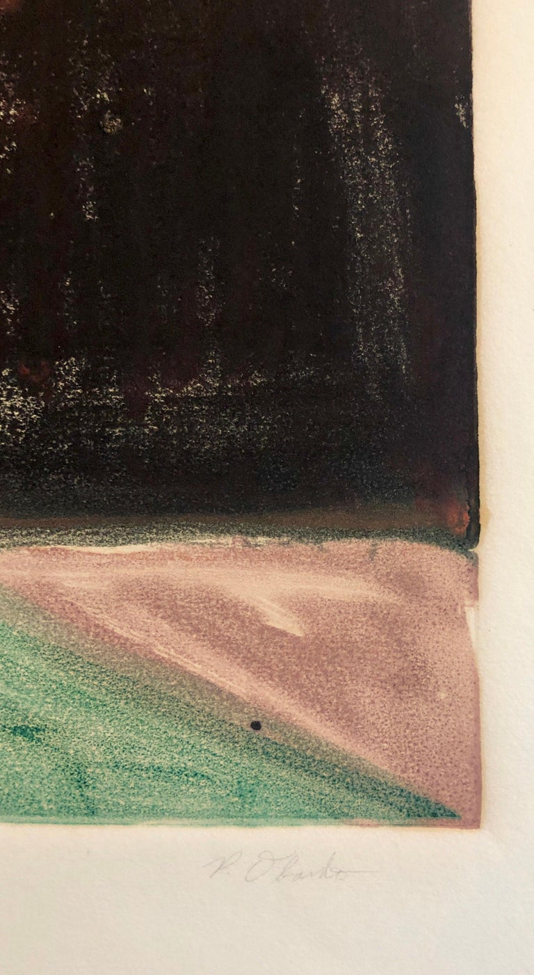Abstract Pattern & Decoration Monoprint Monotype Painting Print Pierre Obando 5