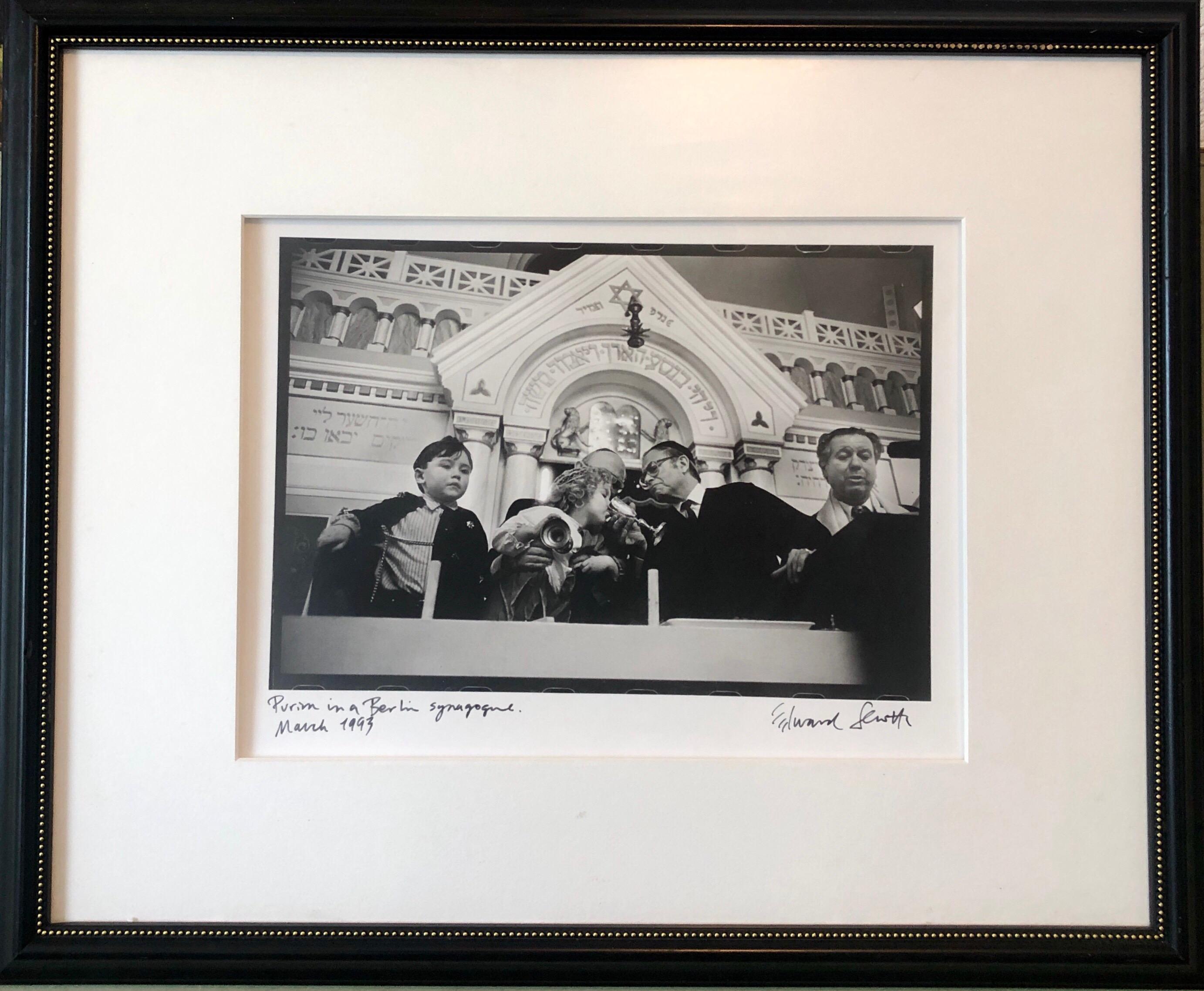 Photo Purim Pestalozzi Str Synagogue Berlin Vintage Silver Gelatin Photograph