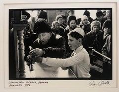 Photo Hanukkah Menorah Lighting Vintage Silver Gelatin Photograph