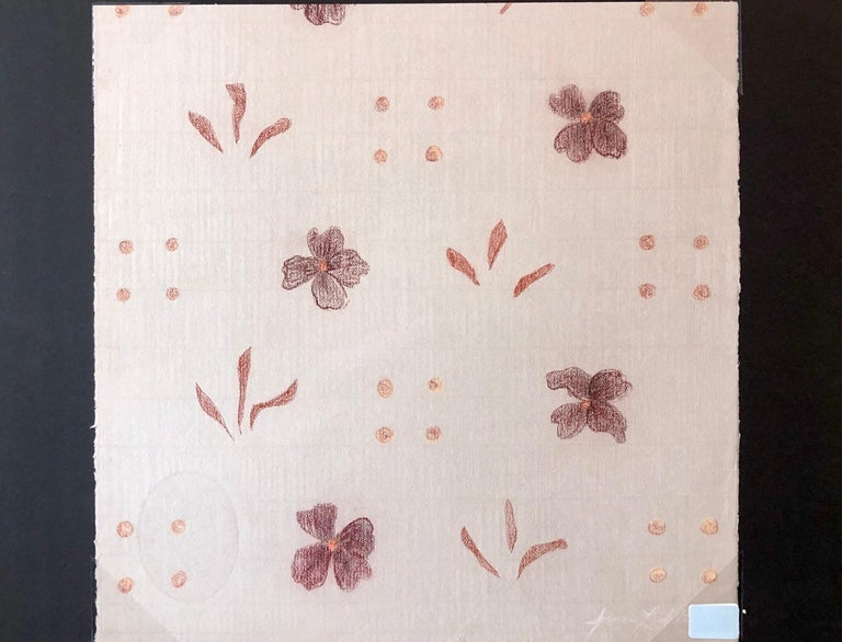 Original Pastel Drawing Flowers, Wallpaper Pattern and Decoration Pop Art  For Sale 3