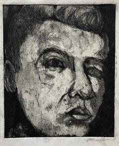 Latin American Artist Etching Social Realist Expressionist Figurative Portrait