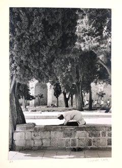 Vintage Silver Gelatin Photograph Al Aqsa Mosque, Jerusalem Temple Mount Photo