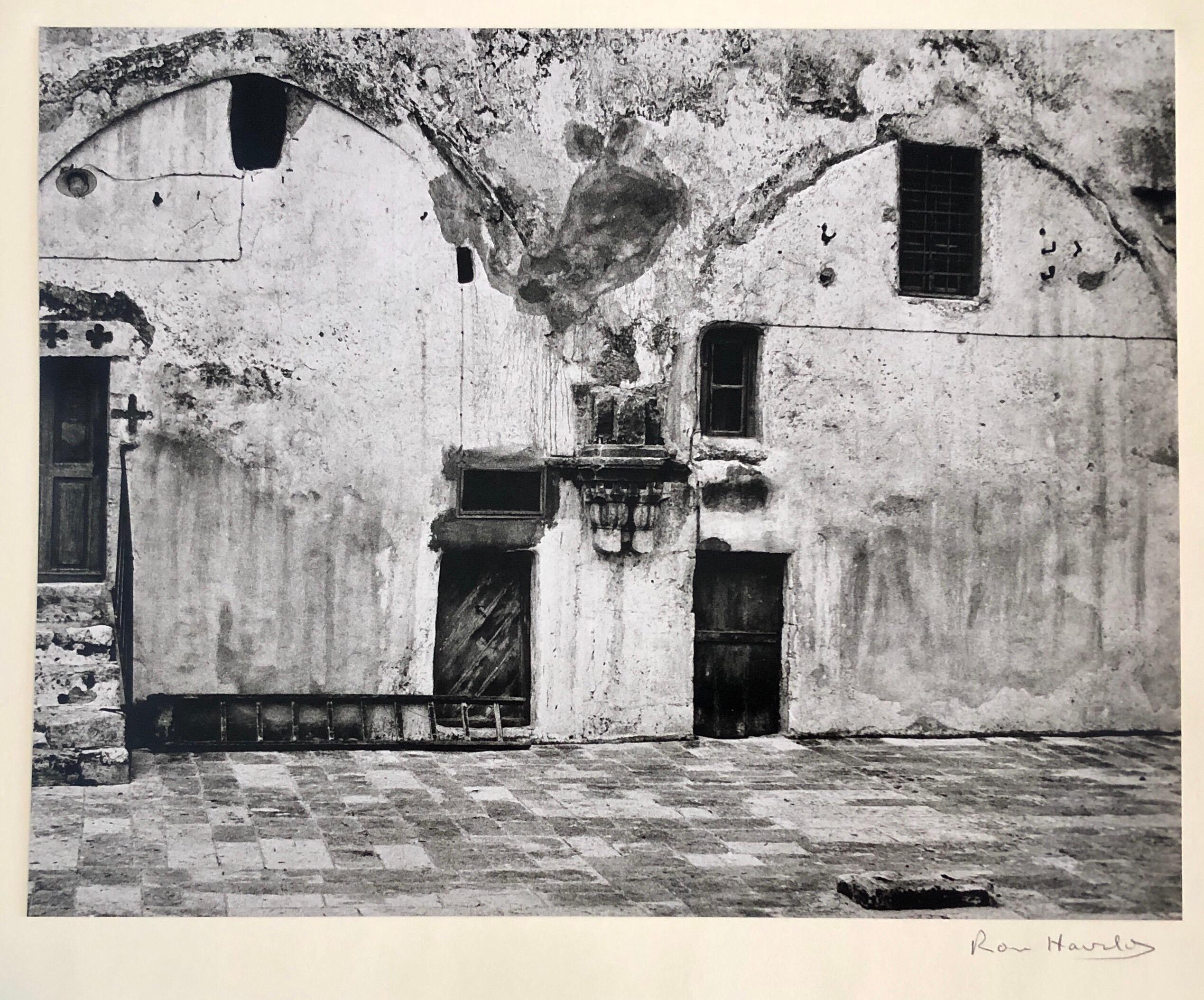 Vintage Silver Gelatin Photograph Wallscape, Jerusalem Architectural Photo