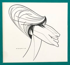 Barbara Streisand Caricature Original Ink Drawing Cartoon Theater Illustration