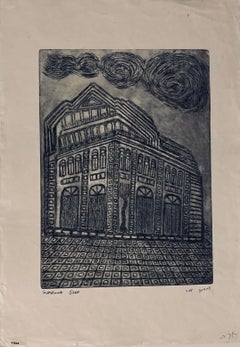Etching of destroyed synagogue - Vilna, Lithuania