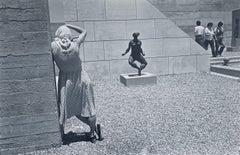 Vintage Silver Gelatin Print Photo Israel Museum Sculpture Jerusalem Photograph