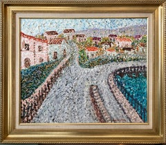 Heavy Impasto Expressionist Oil Painting French Village Vallee de Chevreuse