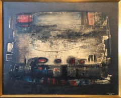 Brazilian Modernist Abstract Oil Painting Latin American Expressionist Concreta