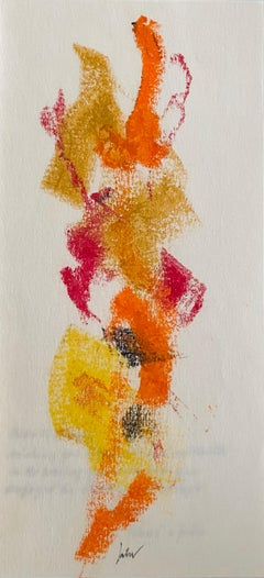 Abstract Pastel Crayon Drawing Color Abstract, Seasonal Letter John Von Wicht
