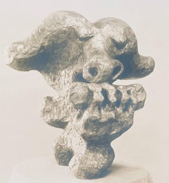Vintage Silver Gelatin Photograph Jacques Lipchitz Bronze Sculpture Photo Signed
