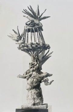 Vintage Silver Gelatin Photograph Jacques Lipchitz Bronze Sculpture Photo Signed