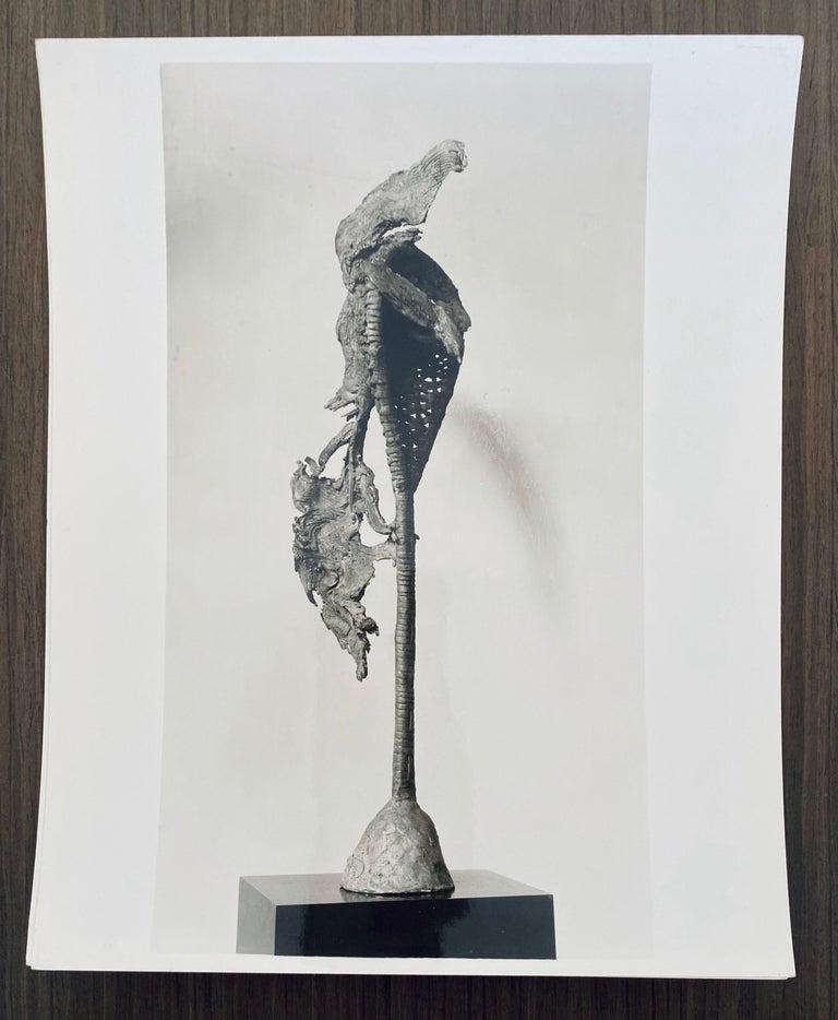 Vintage Silver Gelatin Photograph Jacques Lipchitz Bronze Sculpture Photo Signed For Sale 3