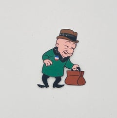 Mr. Magoo Original Vintage Animation Cel Hand Drawing Painting