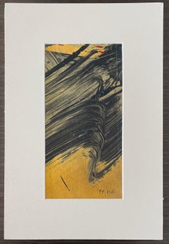 Gestural Abstraction, Miniature Abstract Expressionist Korean Modernist Painting