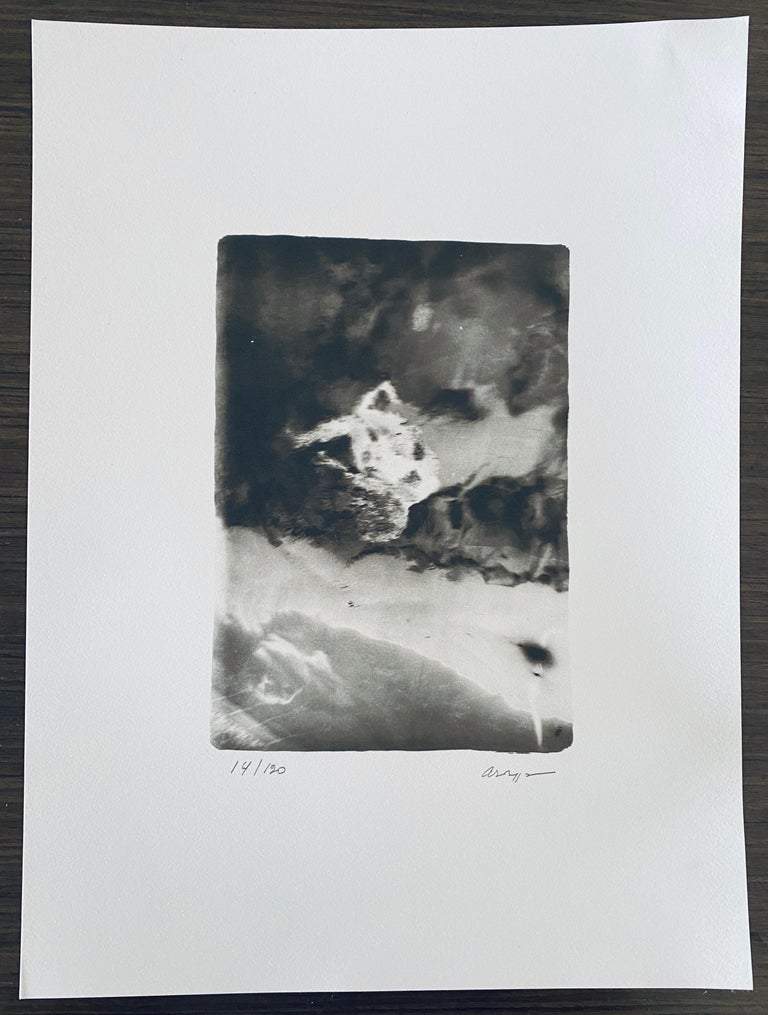Photos pictured of information cards after the images of the black and white photos are not included.   La Chute D'Icare (The Fall of Icarus) is a original, black and white photographic image by the French Photographer André Naggar printed in