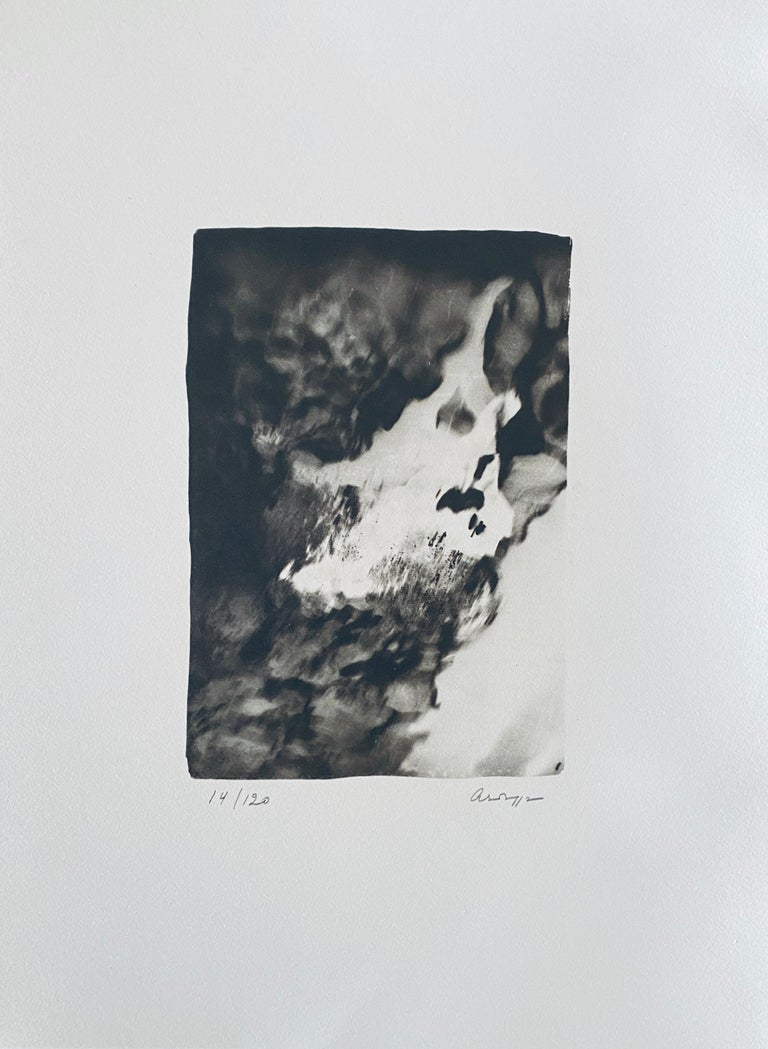 French Contemporary Collotype Photograph Black White Photo Andre Naggar - Gray Black and White Photograph by Andre Naggar