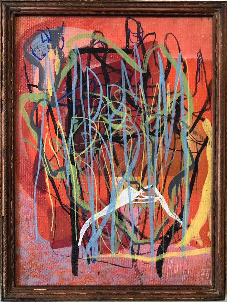 Surrealist Art Deco Figurative Abstract Expressionist Oil Painting Woman Artist For Sale 3